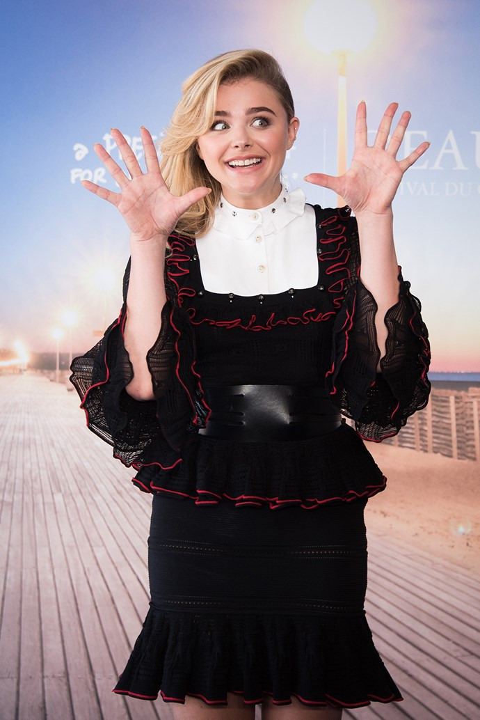 Chloe Moretz gets hands-on at the Deauville American Film Festival!