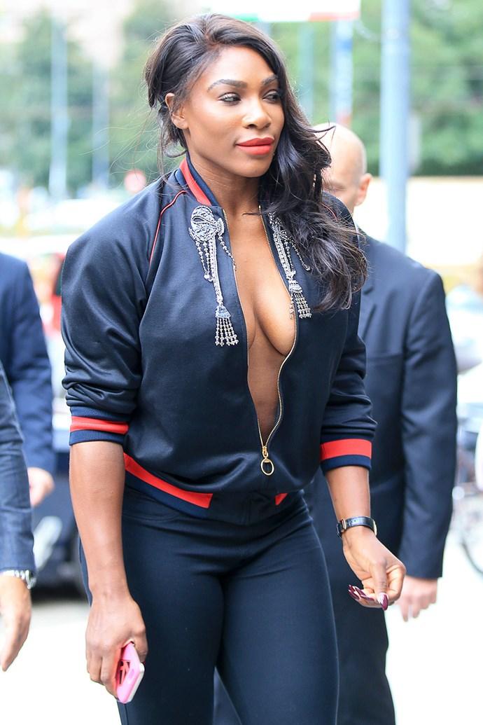VA-VA-VOOM! Bombshell Serena Williams was flaunting her best assets in Milan, Italy.