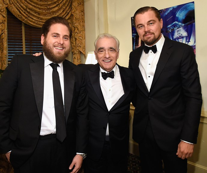 Jonah Hill and Leonardo DiCaprio honor Martin Scorsese with the Entertainment Icon Award