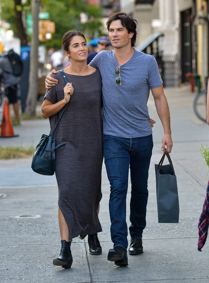 """""""Vampire"""" couple Nikki Reed and Ian Somerhalder spotted cuddled up in NYC"""