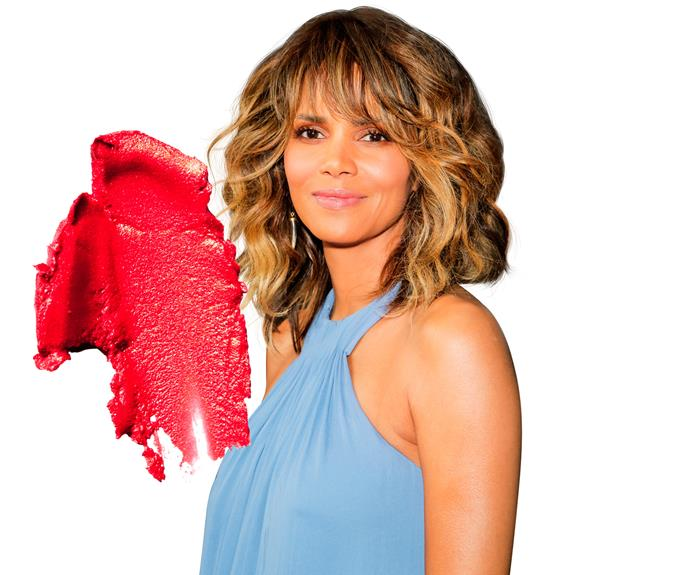 "**3. Halle Berry** The *Extant* star reveals, ""To make my lips look naturally pink, I put on red lippy, wipe it off, then apply clear gloss.""  **Try:** L'Oréal Paris Color Riche Intense in Orange Fever, $23.99."