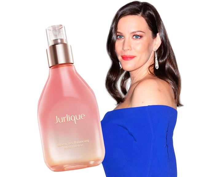 "**5. Liv Tyler** *The Lord of the Rings* beauty has a trick for flawless-looking skin. ""After applying foundation and blush, dust your face with translucent powder, then mist with a rosewater spray and lay a tissue over it for a second.""  **Try:** Jurlique Rosewater Balancing Mist, $88."