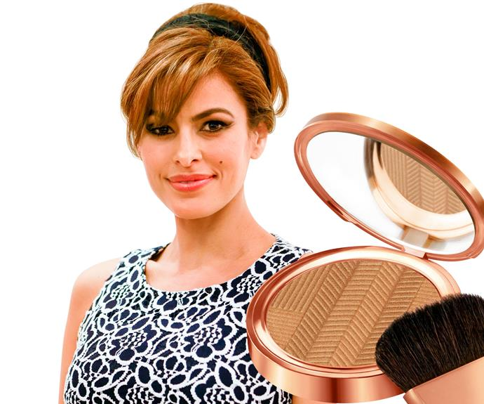 "**10. Eva Mendes** Ryan Gosling's baby mama tells, ""A shimmery bronzer over a matte one is the perfect way to look alive. If you don't want to wear make-up, mix some with moisturiser. You'll look pretty but not made-up.""  **Try:** Elizabeth Arden Sunset Bronze Prismatic Bronzing Powder, $69."
