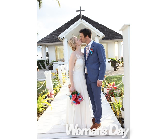 """""""People often say Millen and I are as weird as each other. Well, today I married my weird and awesome soulmate, and it was perfect,"""" Siobhan says."""