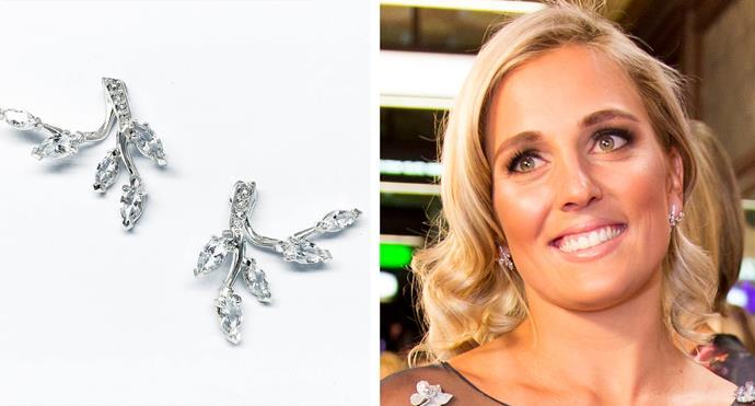 Gemma's bespoke earrings were designed by Grae Jewellery.