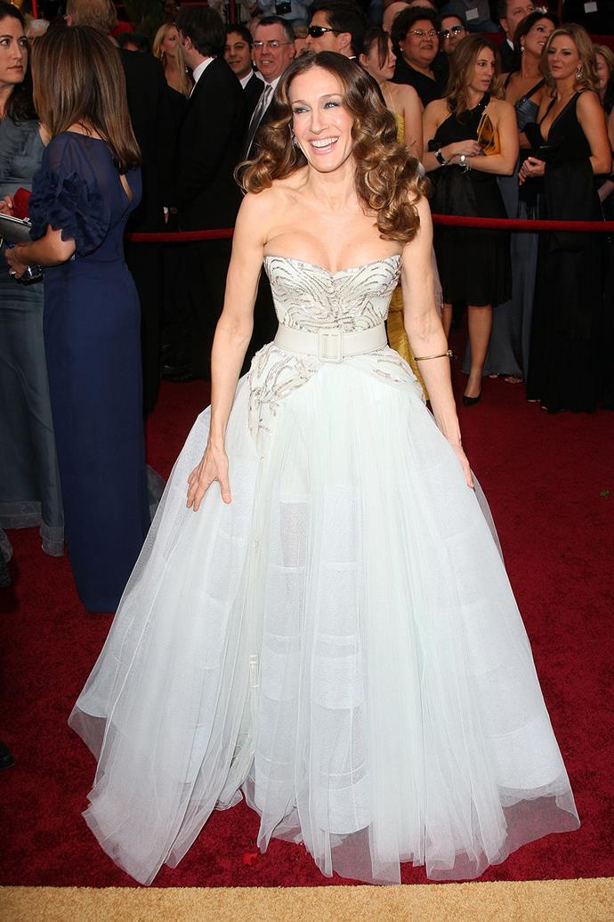 At the Academy Awards in 2009 Sarah Jessica wore this fairytale gown that became everyone's must-have wedding dress