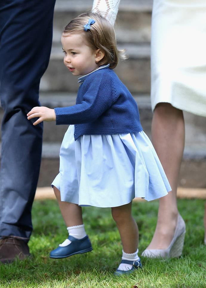 Little Charlotte toddled around adorably