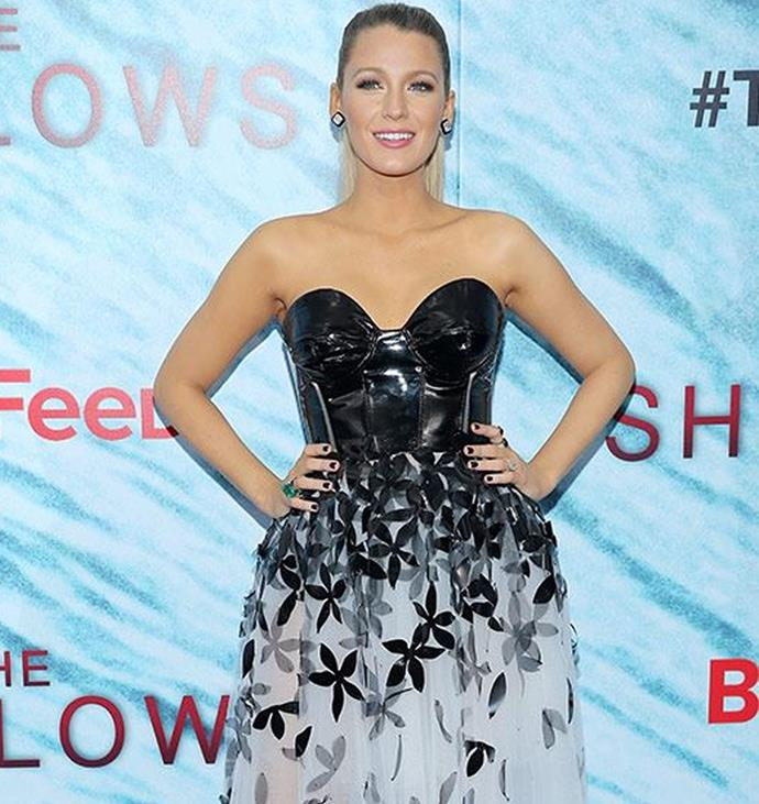 Blake steps out in an edgy tutu to promote *The Shallows*