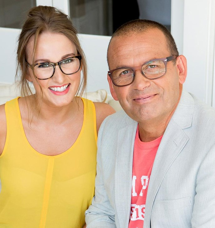 Bella Henry with her dad, broadcaster Paul Henry.