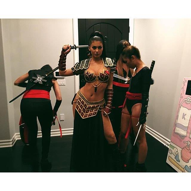Kylie Jenner went as a warrior princess in 2015.