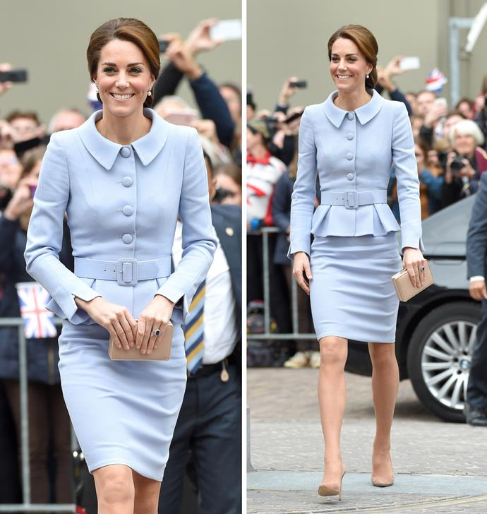 In October, the Duchess wowed on her first solo royal engagement to the Netherlands.