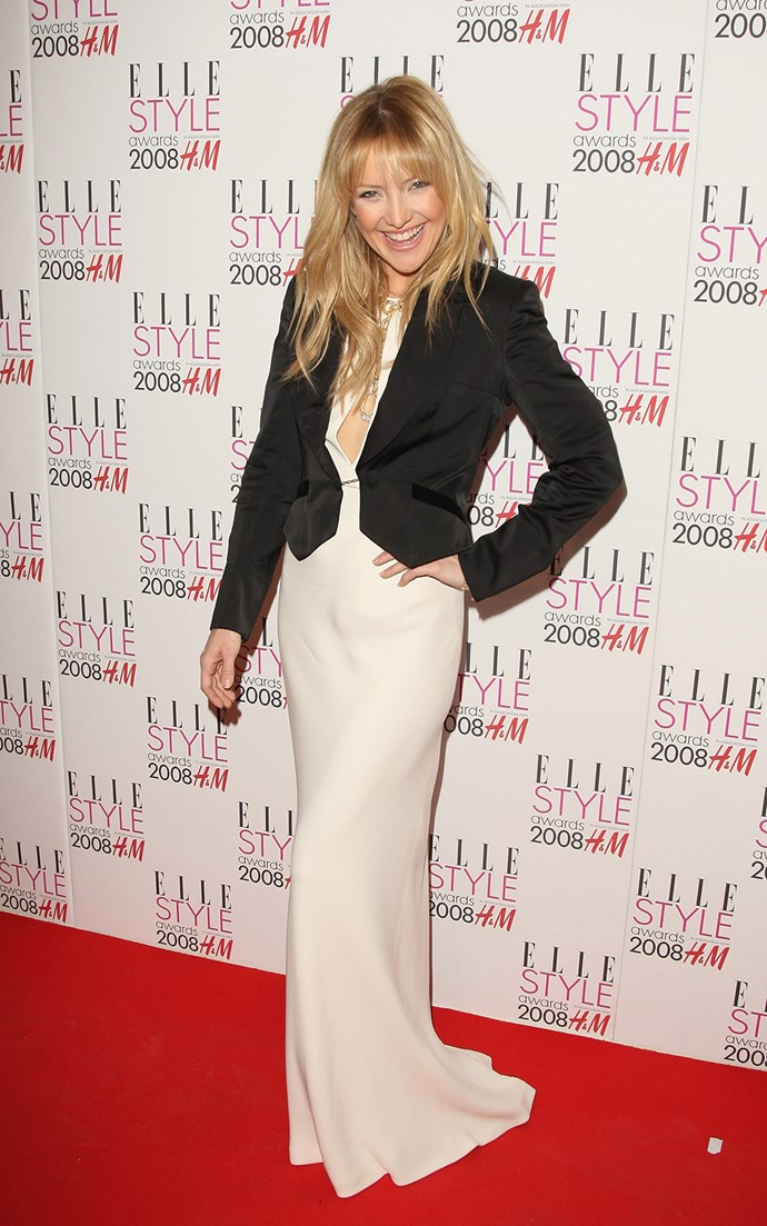 Is that you Goldie? Looking like an absolute dead-ringer for her mum, Kate was super-cute in a white maxi and black blazer at the Elle Style Awards in 2008