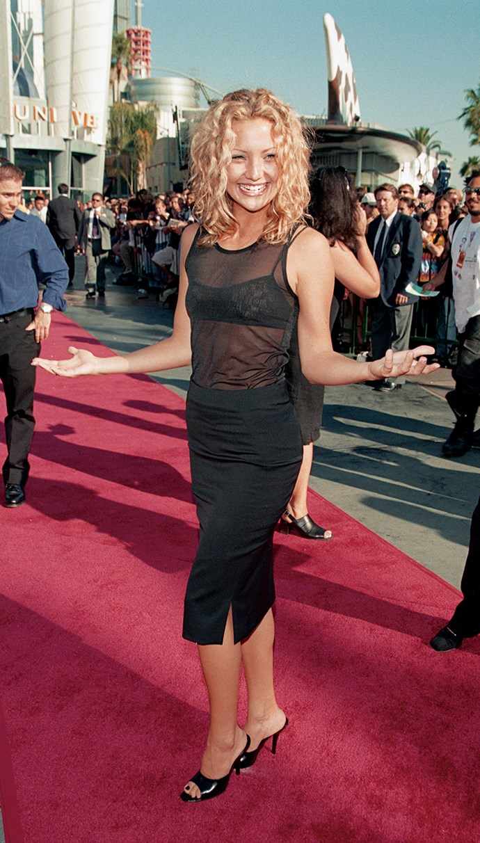 19-year-old Kate arrived at the 1998 MTV Music Awards wearing Gucci, proving she was a definite style icon in the making