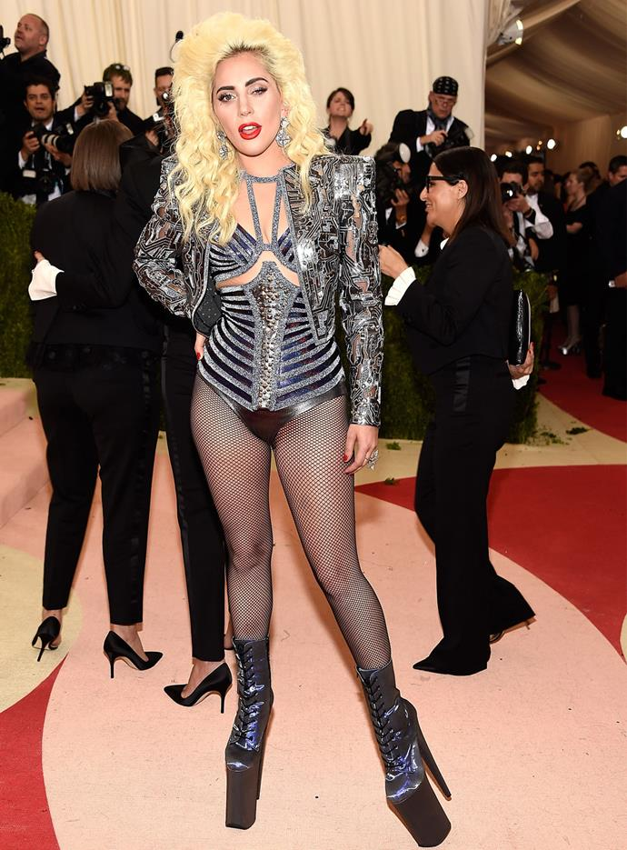 The singer (pictured here at the Met Gala) didn't seem too happy at being compared to Madonna. Photo: Getty