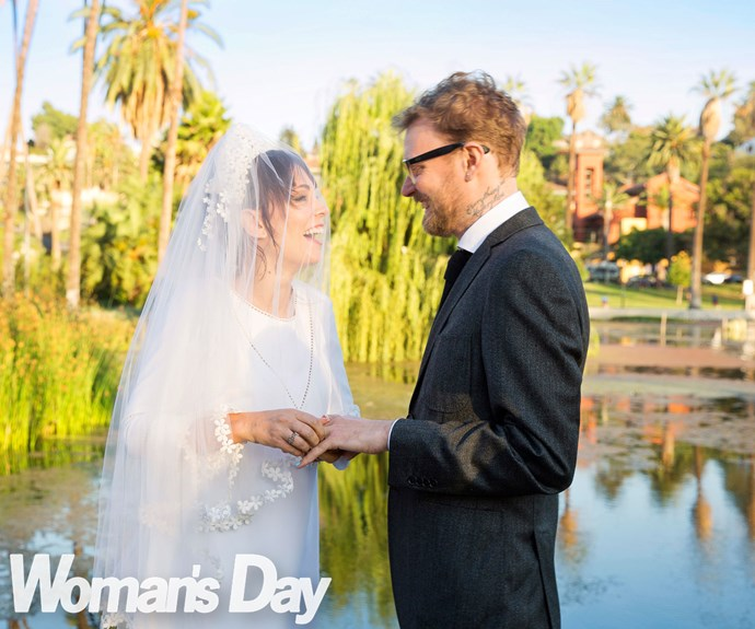 The celebrations continued the next day with a pool party-style reception and a trip to Disneyland.