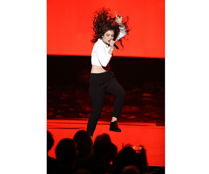 **November 23, 2014** When she first became a household name, the world was struck by Lorde's distinctive dance style - pictured here at the 2014 American Music Awards.