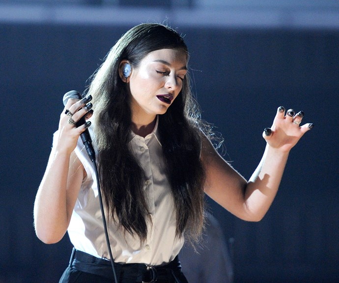 **January 26, 2014** At the Grammy awards in 2014, Lorde's nail polish stole the show. The young star's tuxedo was largely overlooked in favour of her nails, which appeared to have been dipped up to the first knuckle in black, tar-like nail polish.