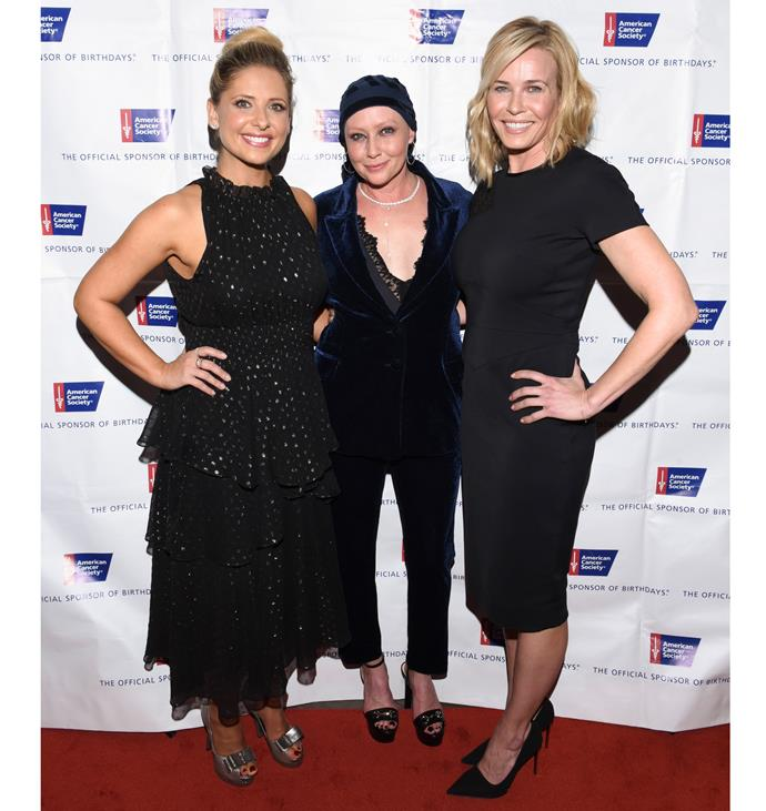 Chelsea Handler and Sarah Michelle Gellar were there to support Shannen at the gala. Photo: Getty