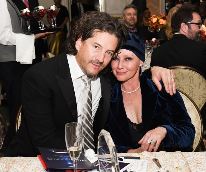 The actress also had husband Kurt Iswarienko there to lean on for support. Photo: Getty