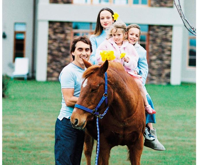 Charmed childhood! Jason made sure the girls had a magical upbringing – complete with horses and carriages!