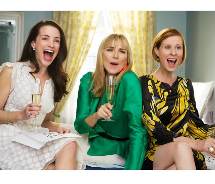 Ladies on the loose! Charlotte (Kristin Davis), Samantha and Miranda (Cynthia Nixon).