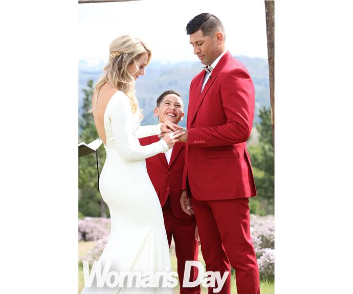 """Seeing Larissa walking down the aisle towards him, TK later recalls, """"I was gob-smacked. Nothing prepared me for the surprise. Woohoo! Yes, please!"""""""