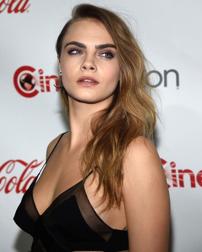 1 Taking out the top spot, model/actress Cara Delevinge