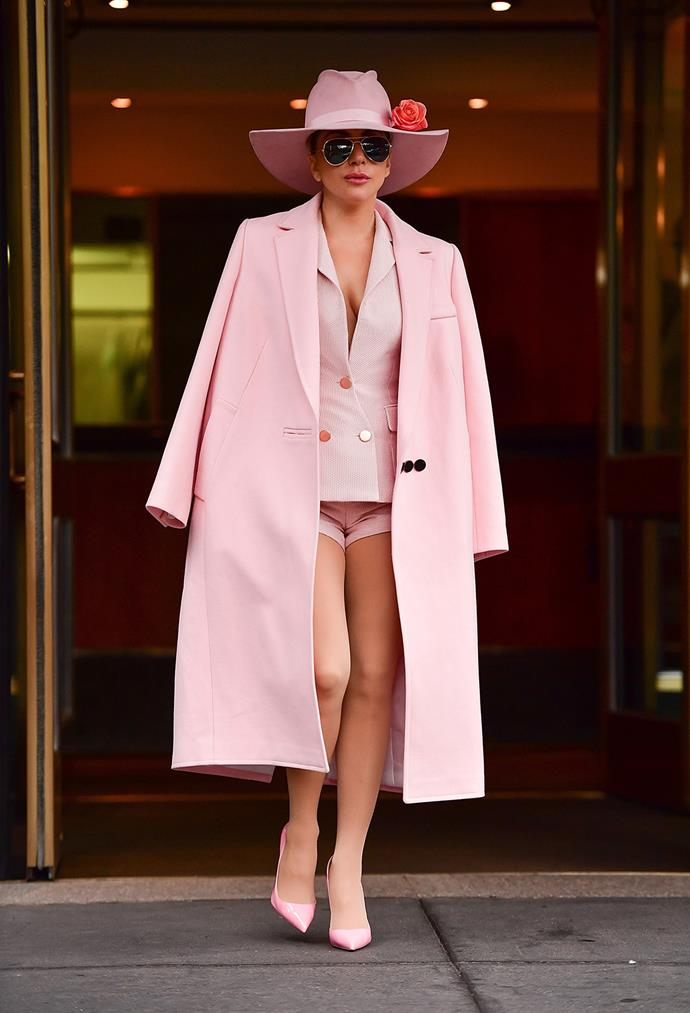 From sequined getups to the signature pink Stetson hats, these days Lady Gaga is chanelling a new sound and new country style