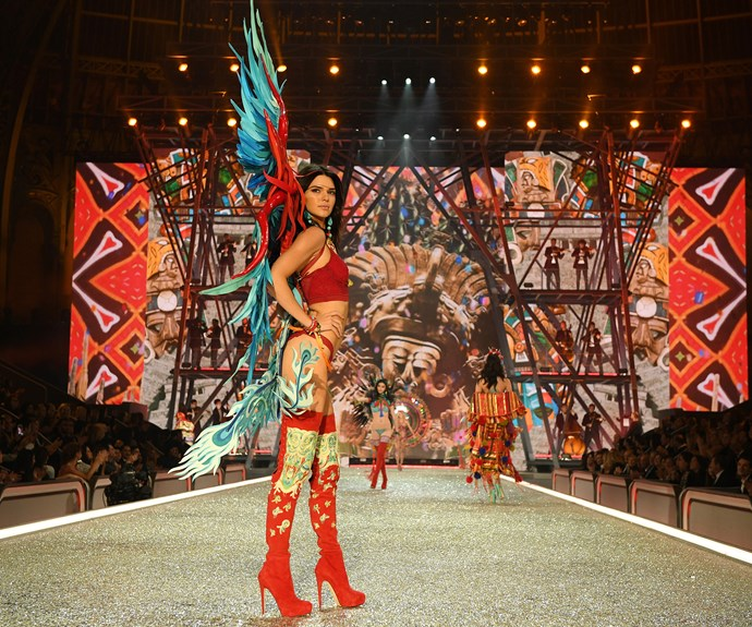 Kendall Jenner dons another pair of vibrant wings.