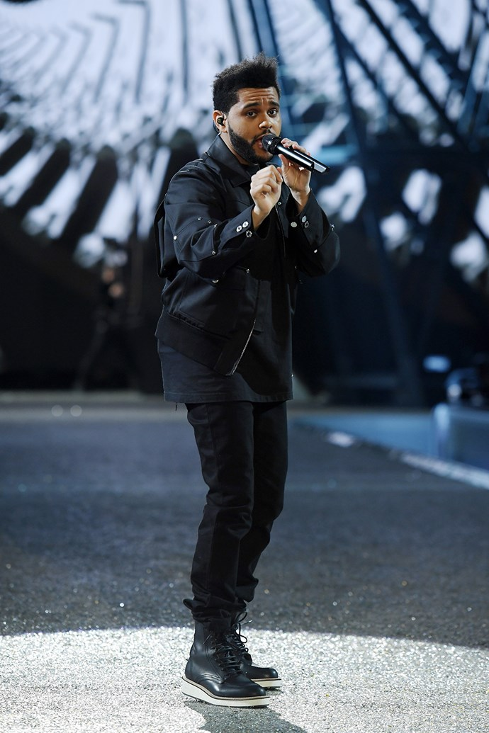 The Weeknd was one of three performers for this year's show, alongside Bruno Mars and Lady Gaga.