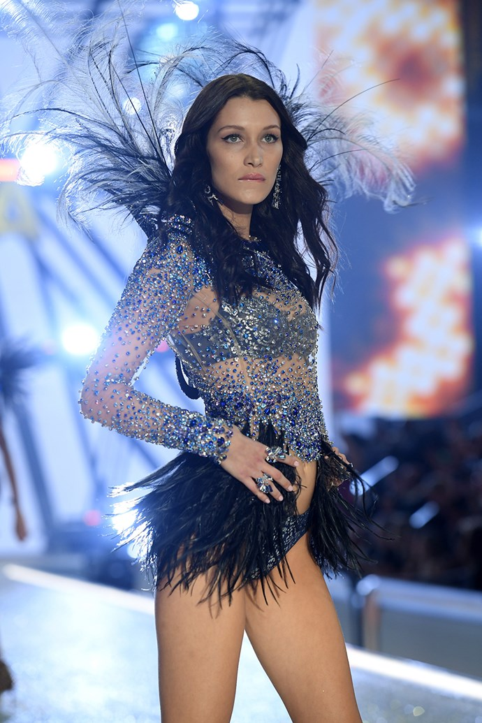 Bella Hadid made her debut for Victoria's Secret this year, joining big sis Gigi on the runway.