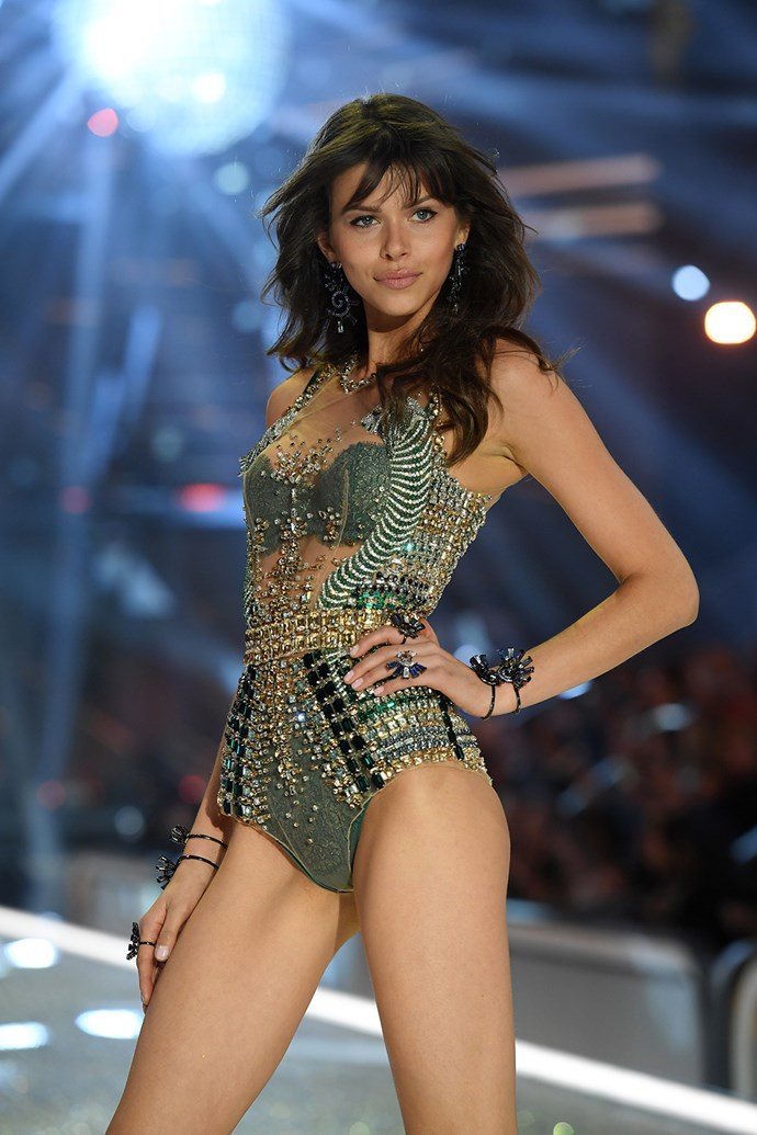 Kiwi model Georgia Fowler also made her Victoria's Secret debut on the catwalk this year.