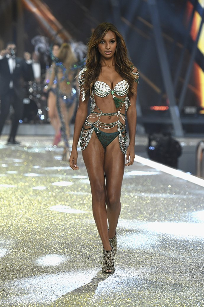 Jasmine Tookes models this year's Fantasy Bra, valued at a whopping $3 million.