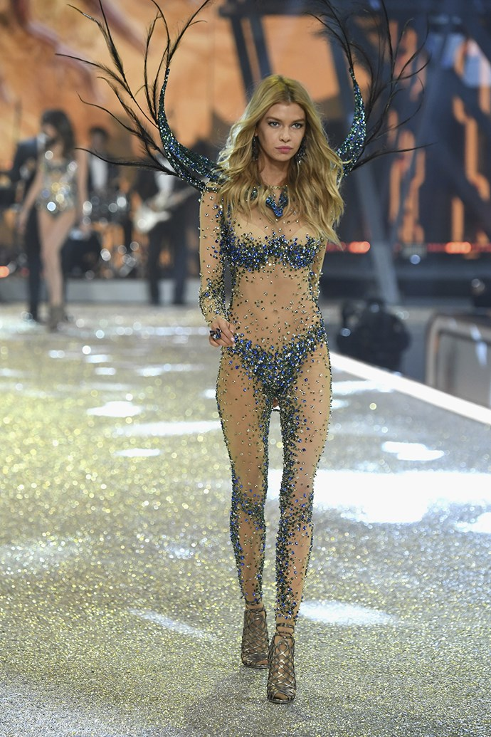 Belgium-born, New Zealand-raised model Stella Maxwell also strutted her stuff down the runway.