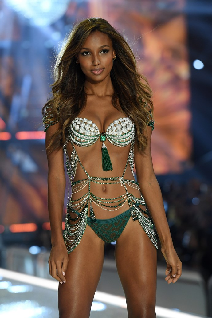 The bra is reportedly crafted from 9,000 gemstones!