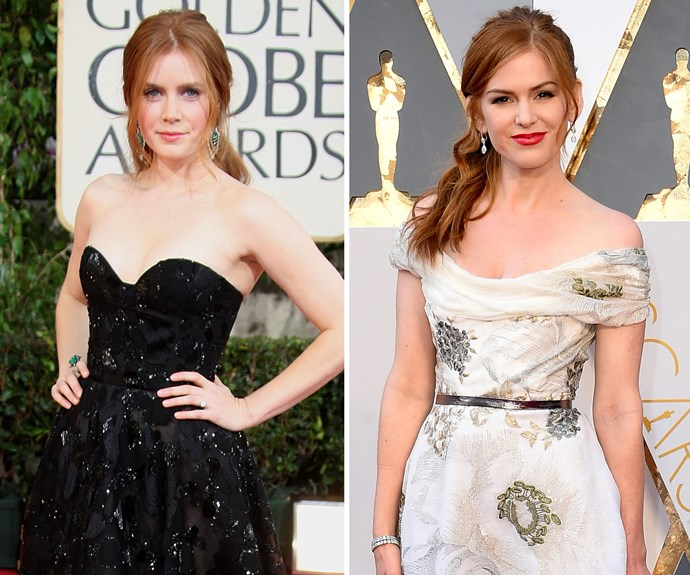Amy Adams and Isla Fisher share such a similar resemblance, Isla has even revealed she swapped out her face with Amy's on her family's Christmas card one year - and no one noticed! The two also starred together in Tom Ford's acclaimed *Nocturnal Animals*, where Isla played a version of Amy's character.