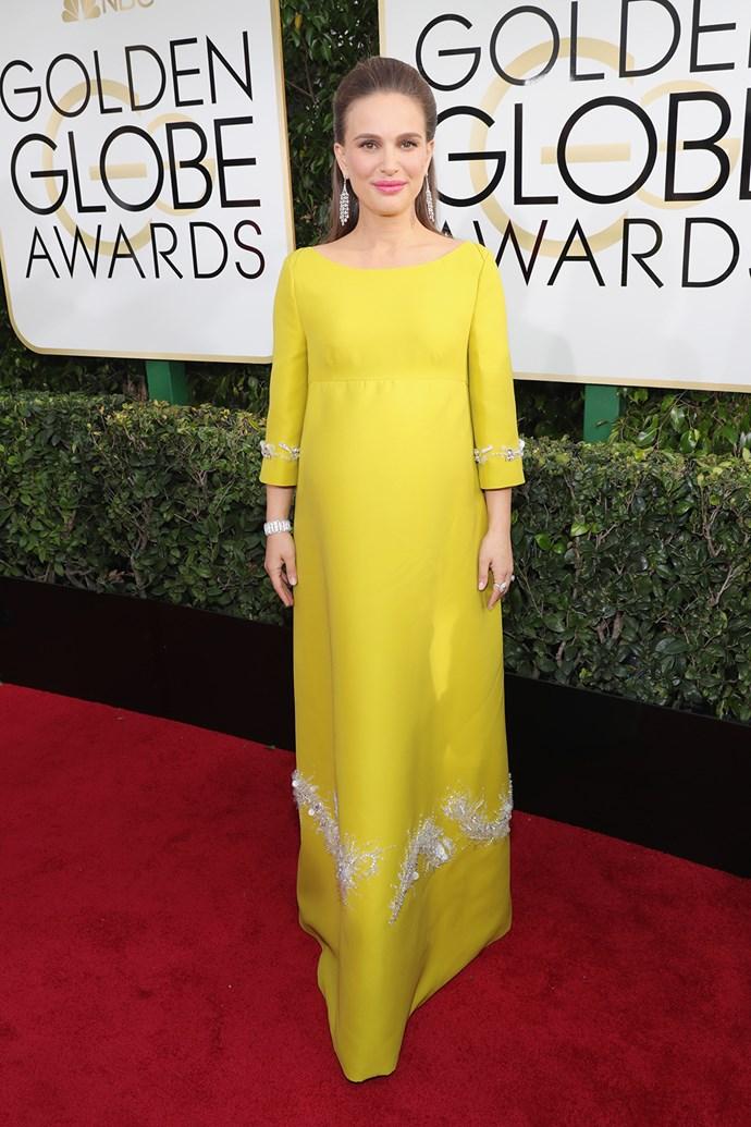 A pregnant Natalie Portman wowed in Prada in 2017.