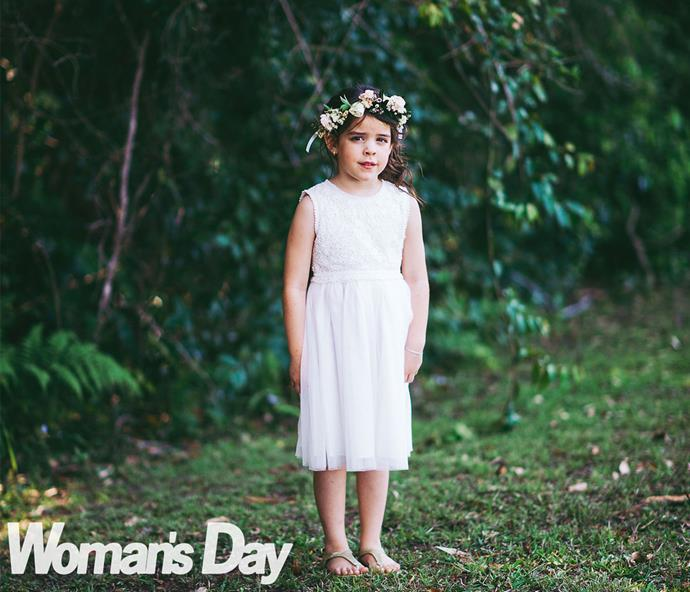 Deb knew that Jasmine would wed Tim and be stepmum to Riley (pictured) before the bride did!