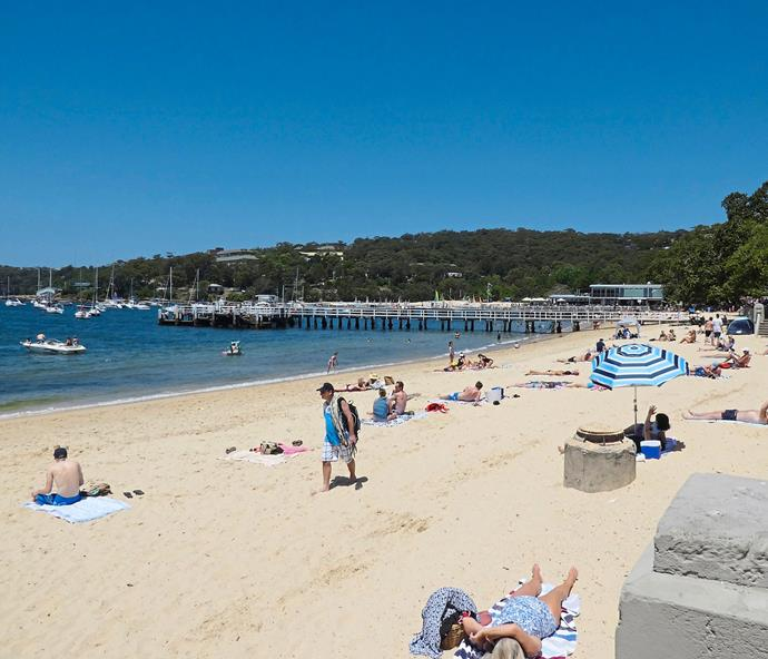 Balmoral Beach was the end destination of our super-healthy walk from Taronga Zoo.