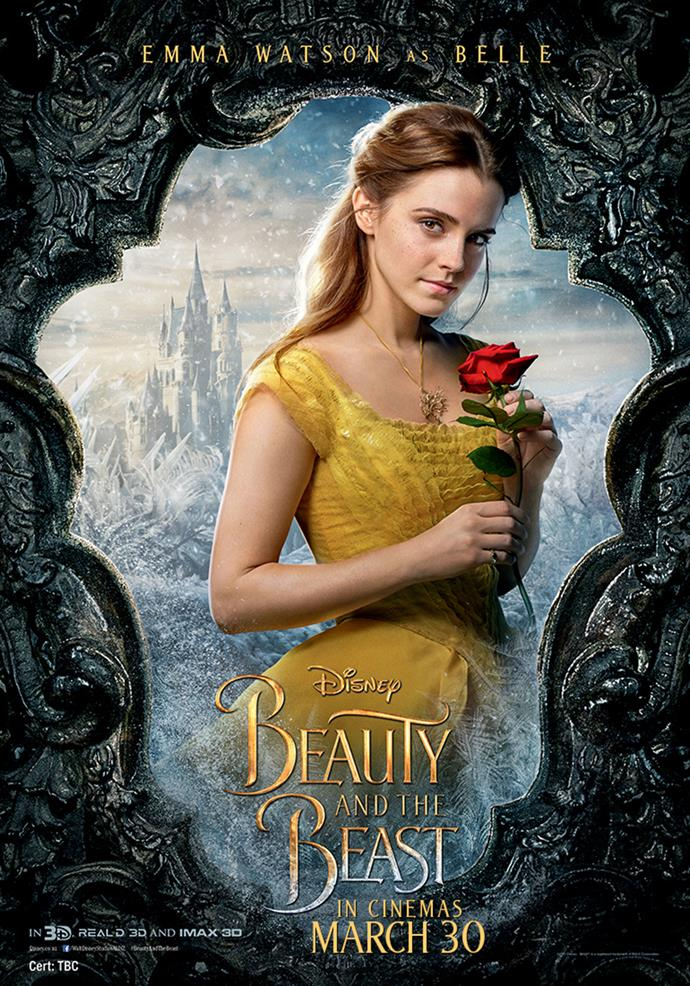 **Emma Watson as Belle** Belle is a bright and spirited young woman who dreams of adventure, romance and a world far beyond the confines of her French village. Fiercely independent and keeping to herself for the most part, Belle wants nothing to do with the town's arrogant and boorish rogue Gaston, who relentlessly pursues her. When her father is imprisoned in the castle of a hideous Beast, Belle trades her own freedom for his and quickly befriends the former staff who have become household objects as result of a curse placed on the castle. The Beast, while surly and ill-mannered, can be generous and chivalrous and knows how to make her laugh, and Belle soon begins to sense the kind heart of the Prince within.
