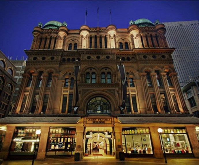 **Queen Victoria Building**  Occupying an entire block on Sydney's George Street with Sydney's finest fashion boutiques, jewellery shops and homewares - the QVB is Sydney's most popular and prestigious shopping centre.