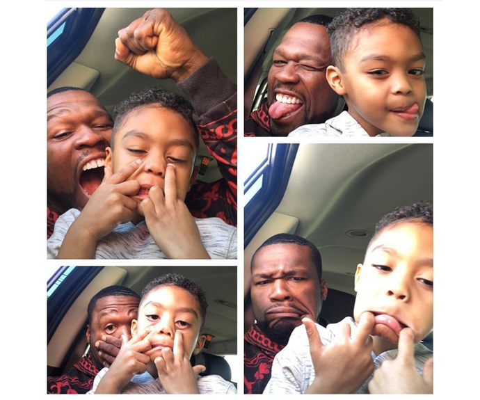 **Sire Jackson**  Rapper 50 Cent's son Sire is already a selfie king at age 4.