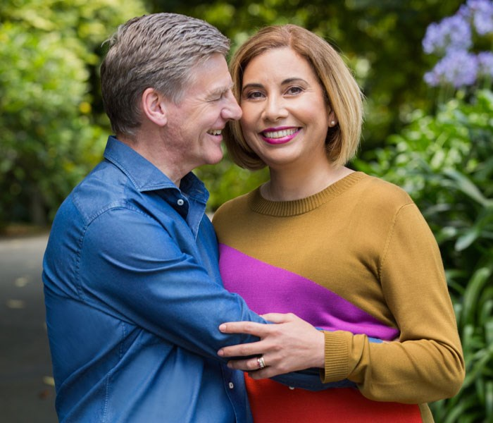 Bill English with wife Mary.