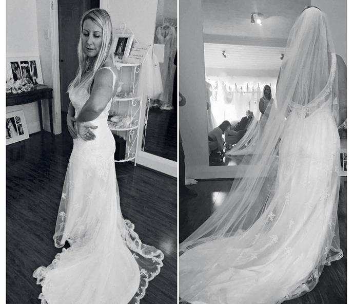 Sadly, Vanessa never got to wear her $6000 Jane Yeh bridal gown down the aisle.