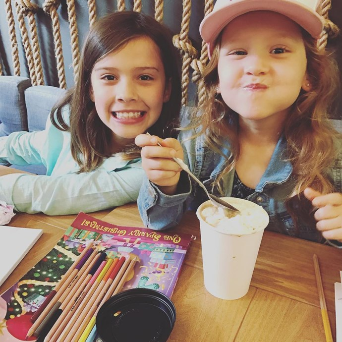 **Haven Warren**  Jessica Alba's five-year-old daughter Haven Warren (right) loves goofing off with her older sister Honor.