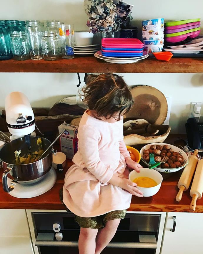**Olive Barrymore**  Drew Barrymore's four-year-old daughter Olive loves helping out mum in the kitchen - perhaps she could show Prince George a few cooking tips or two?