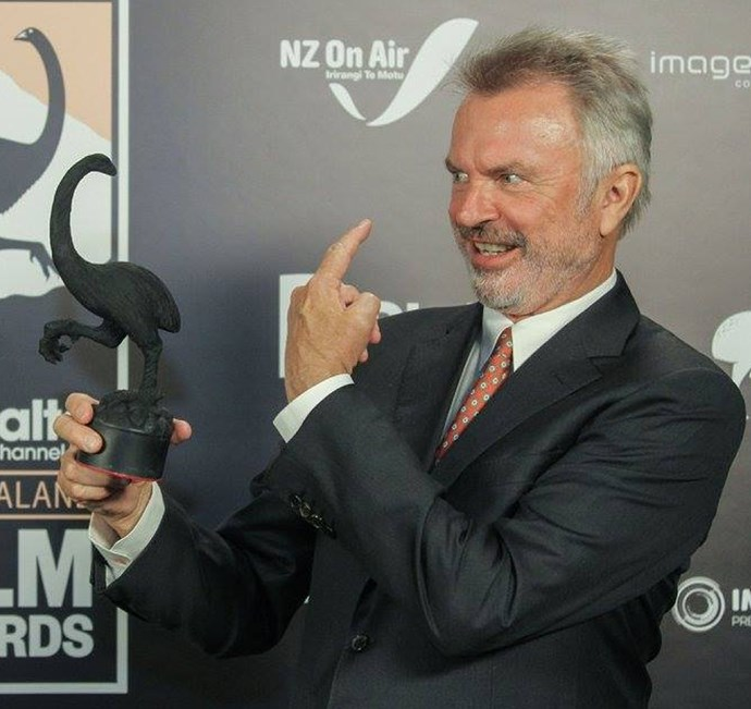 Sam Neill and his Moa for his role as Uncle Hec in Hunt For The Wilderpeople.