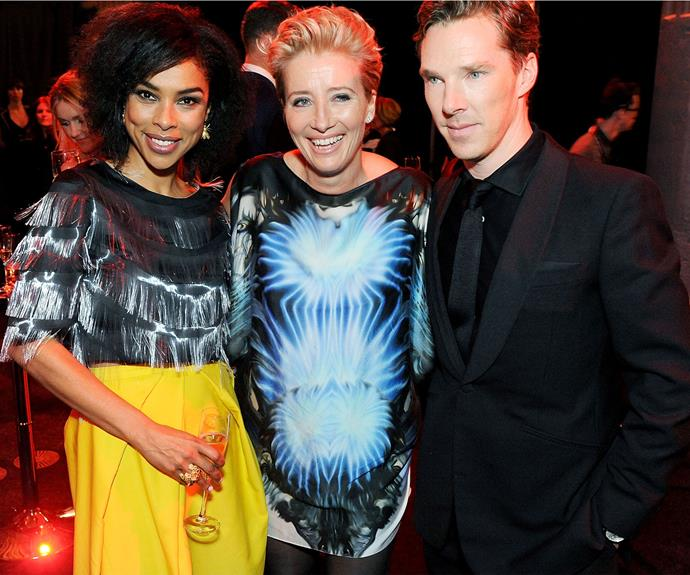 Emma - pictured here with Benedict Cumberbatch and Sophie Okonedo - has been outspoken on many issues in Hollywood.