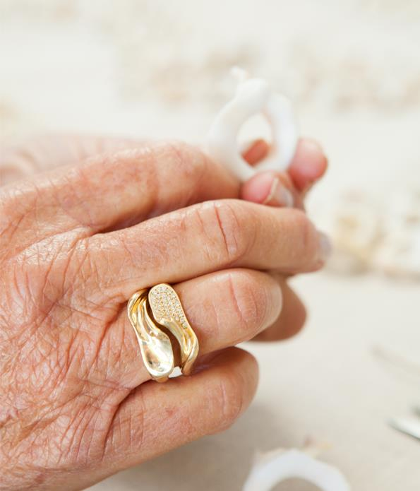 The couple are commemorating their 50th anniversary with a range of shell-inspired jewellery.
