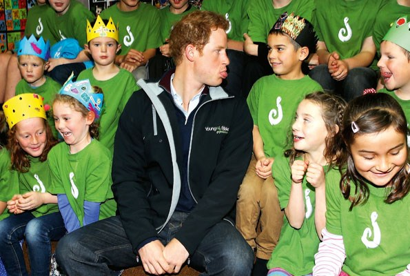 Surrounded by Stewart Island royalty, the clown prince got crown-making lessons at Halfmoon Bay School.
